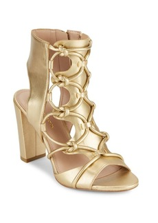 BCBGeneration Fay Metallic Lace-Up Sandals