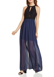 BCBGeneration Mixed-Media Maxi Dress
