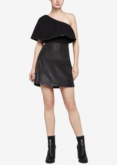 BCBGeneration Mixed Media One-Shoulder Dress