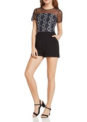 BCBGeneration Mixed-Media Romper