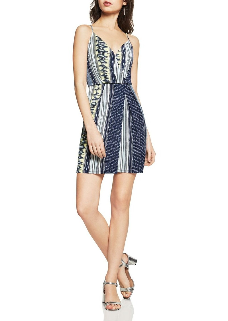3138065a4 BCBG BCBGeneration Mixed Print Faux-Wrap Dress