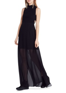 BCBGeneration Mock Neck Maxi Dress