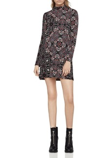 BCBGeneration Mock Neck Printed Dress
