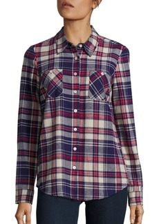BCBGeneration Multi-Tone Plaid Shirt