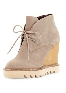 BCBGeneration Nariska Suede Lace-Up Wedge Bootie