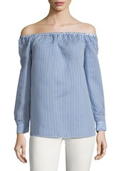 BCBGeneration Off-the-Shoulder Long-Sleeve Top