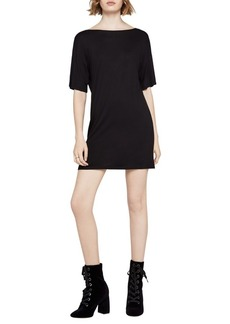 BCBGeneration Open-Back Short-Sleeve Dress