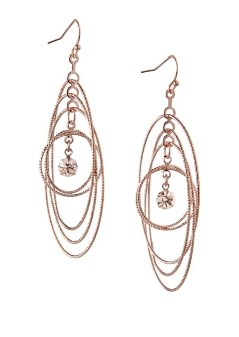 Bcbgeneration Orbital Crystal Multi Circle Dangle Drop Earrings