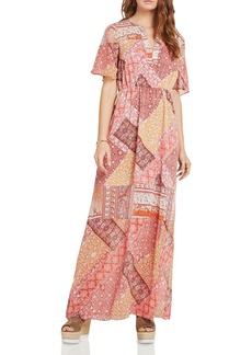 BCBGeneration Patchwork Print Maxi Dress
