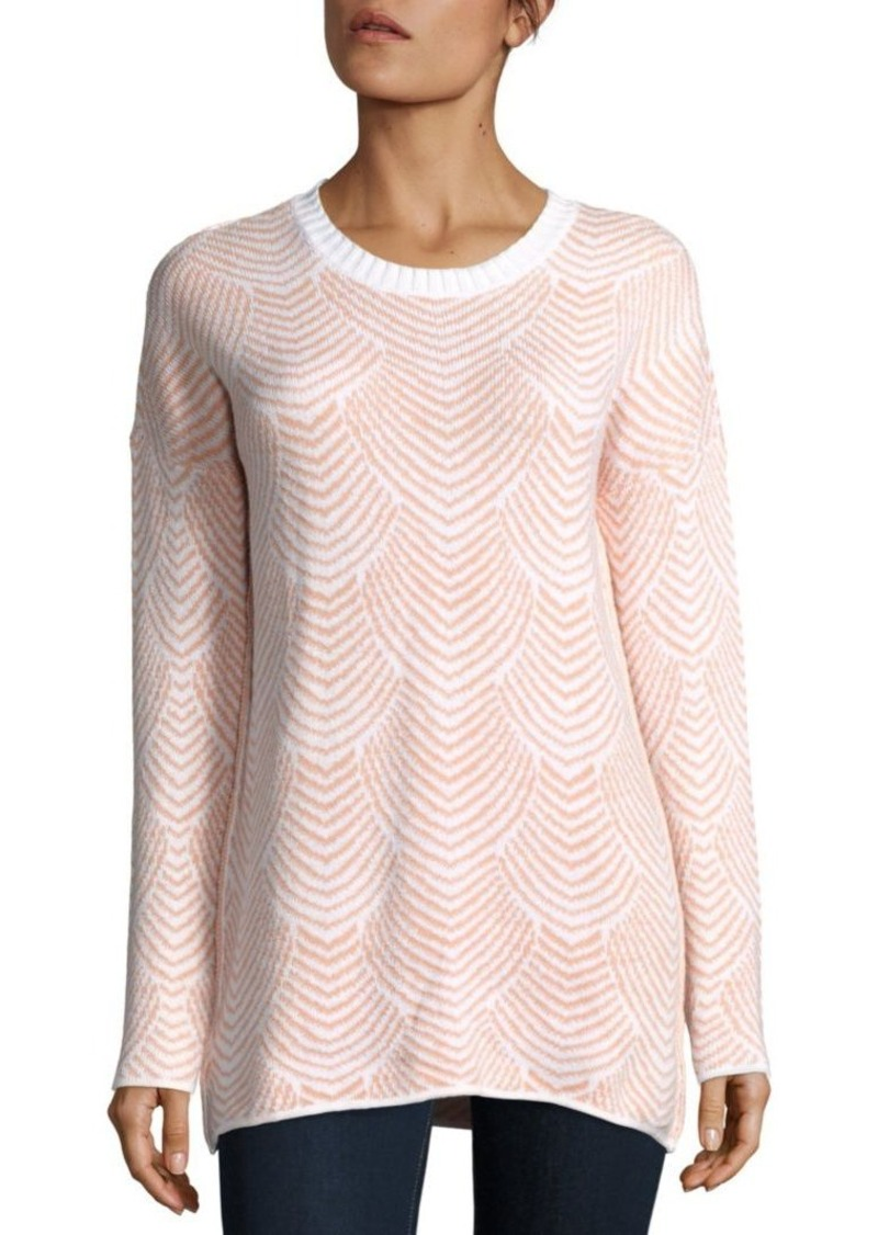 BCBGeneration Patterned Drop-Shoulder Sweater