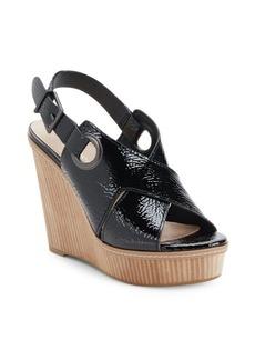 BCBGeneration Penelope Crinkled Wedge Sandals
