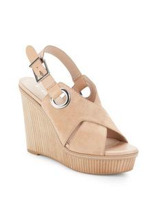BCBGeneration Penelope Leather Open-Toe Wedge Sandals