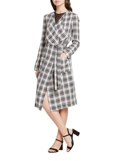 BCBGeneration Plaid Kimono Trench Coat