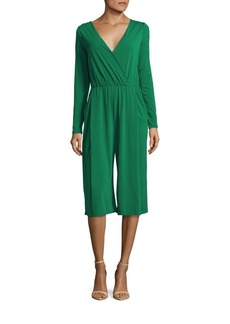 BCBGeneration Pleated Cropped Jumpsuit