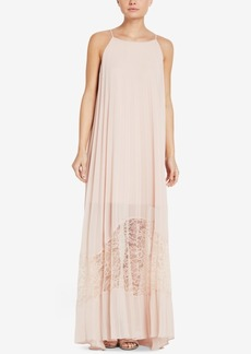 BCBGeneration Pleated Lace Maxi Dress