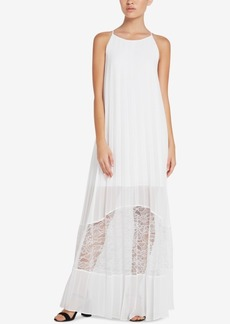 BCBGeneration Pleated Lace Maxi Dress