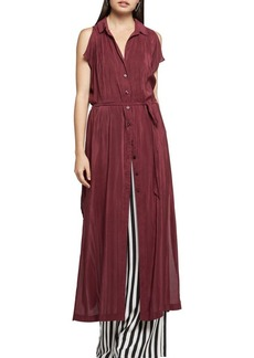BCBGeneration Pleated Maxi Shirt Dress