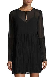 BCBGeneration Pleated-Trim Cocktail Dress