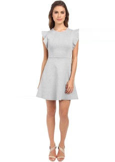 BCBGeneration Ponte Flutter Sleeve Dress