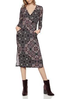BCBGeneration Printed Faux-Wrap Dress