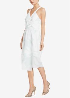 BCBGeneration Printed Halter-Neckline Midi Sheath Dress