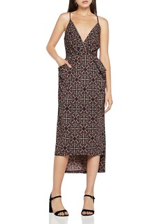 BCBGeneration Printed High/Low Dress