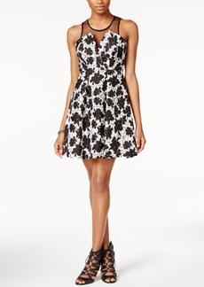 BCBGeneration Printed Illuison Fit & Flare Dress