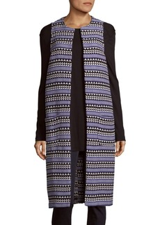 BCBGeneration Printed Open Front Cardigan