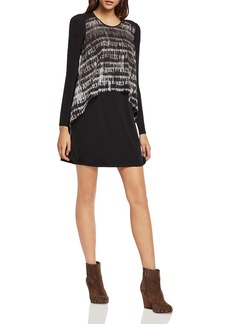 BCBGeneration Printed Overlay A-line Dress