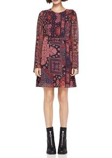 BCBGeneration Printed Ruffle Dress