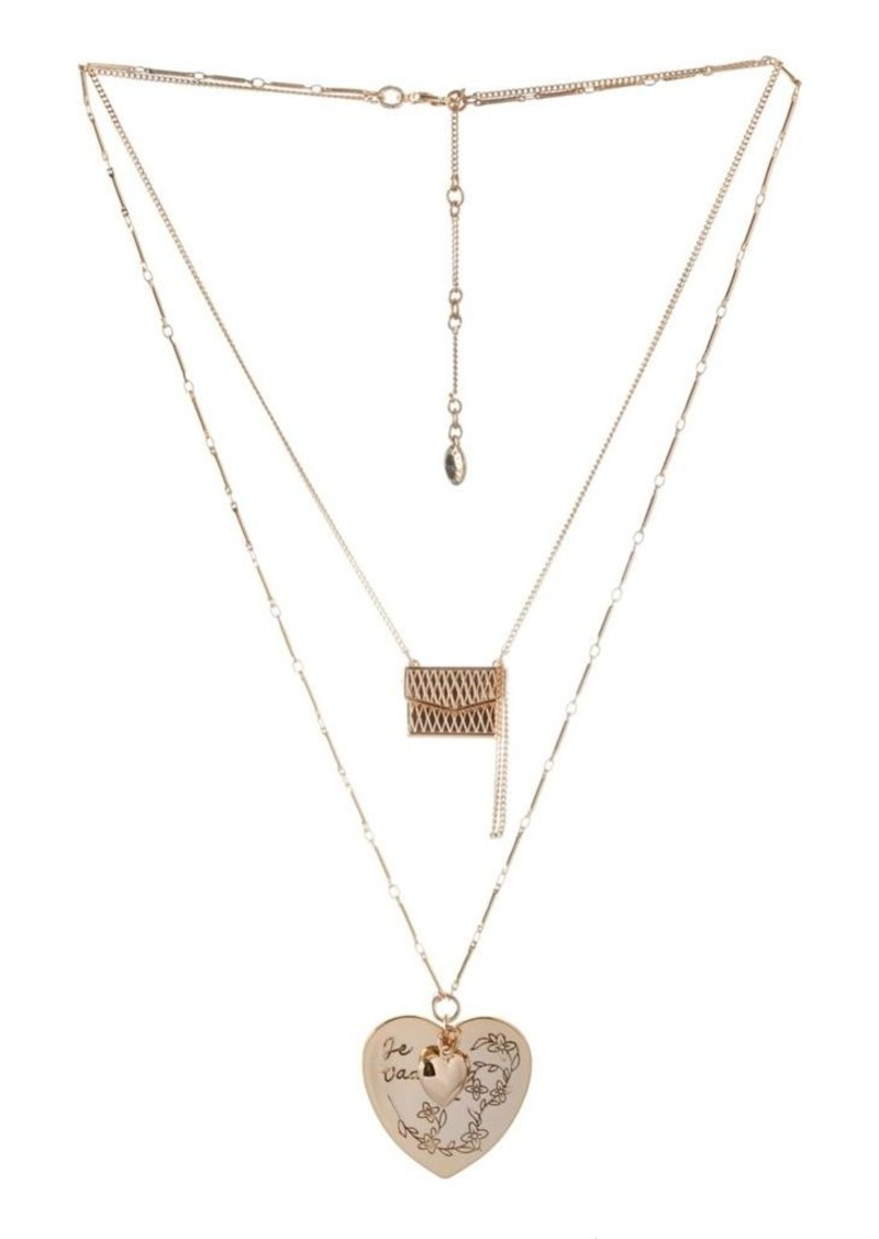 BCBGeneration Choker with Double Chain Necklace 9YEu8GYrdH