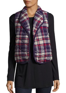 BCBG Quilted Plaid Vest