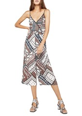 BCBGeneration Ribbon Patchwork Surplice Culotte Jumpsuit