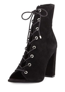 BCBGeneration Ripley Suede Lace-Up Bootie