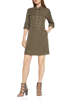 BCBGeneration Roll-Sleeve Shirt Dress