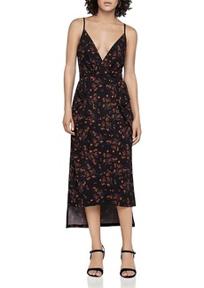 BCBGeneration Romantic Field Faux-Wrap Midi Dress