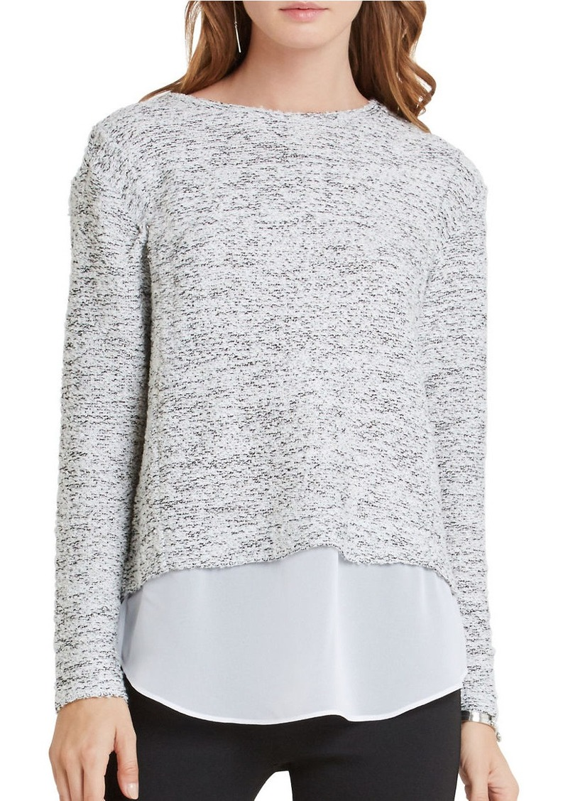 BCBGENERATION Roundneck Long Sleeve Mock Layer Sweater