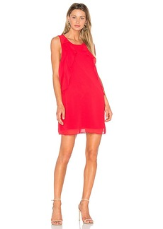 BCBGeneration Ruffle Dress in Red. - size L (also in M,XS)