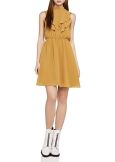 BCBGeneration Ruffle High-Neck Dress