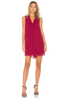 BCBGeneration Ruffle Tent Dress In Garnet in Wine. - size L (also in M,S,XS)