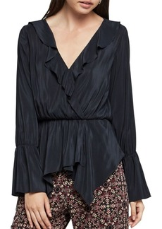 BCBGeneration Ruffle-Trimmed Surplice Top