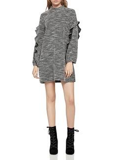 BCBGeneration Ruffle-Trimmed Sweater Dress