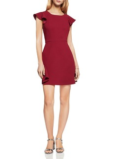 BCBGeneration Ruffle V-Back Dress