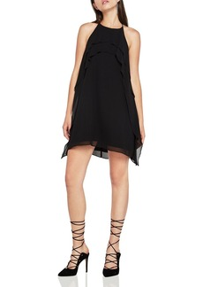 BCBGeneration Ruffled Chiffon A-Line Dress