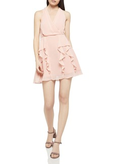 BCBGeneration Ruffled Fit-and-Flare Dress
