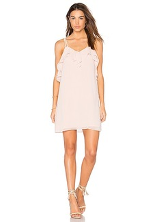 BCBGeneration Ruffled Mini Dress in Blush. - size L (also in M,S,XS)