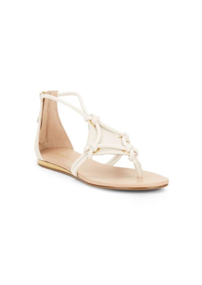 9c2edbaee14b BCBG BCBGeneration Sara Leather Sandals Now  29.99