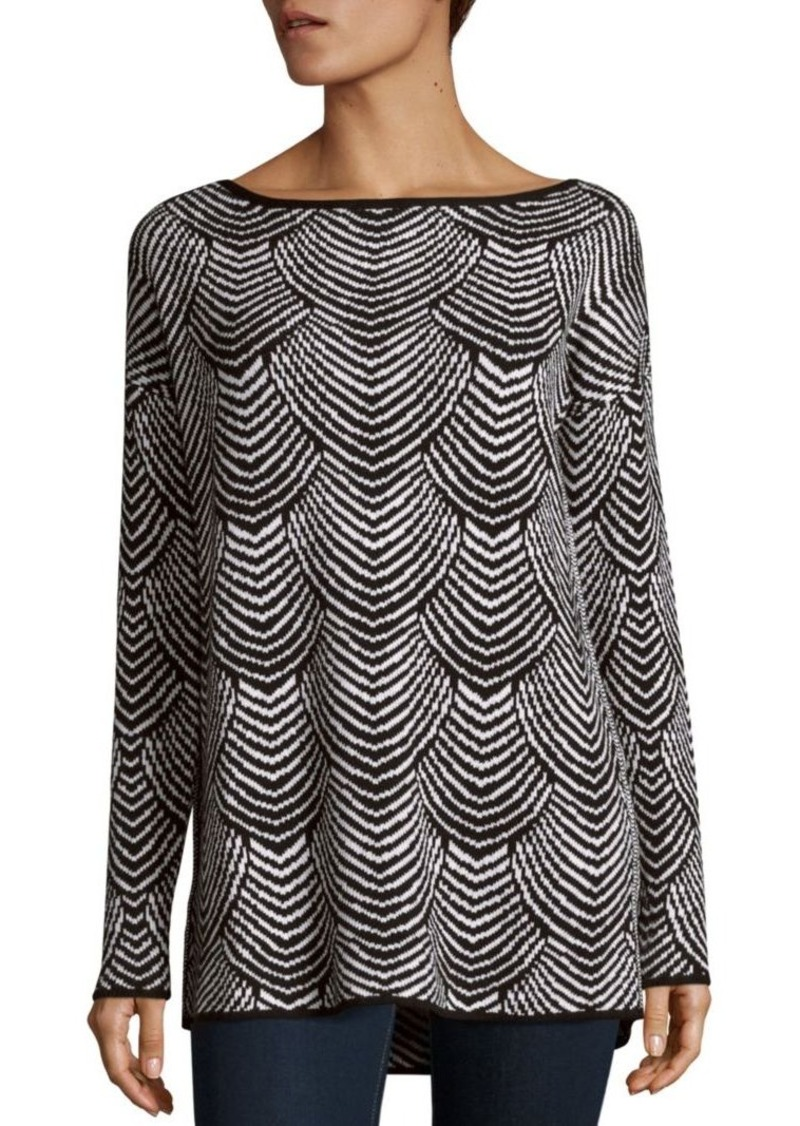 BCBGeneration Scallop Patterned Boatneck Top