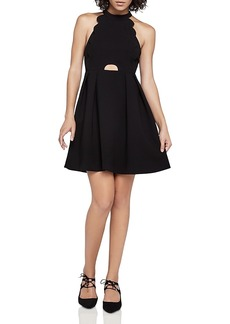 BCBGeneration Scalloped Fit-and-Flare Dress