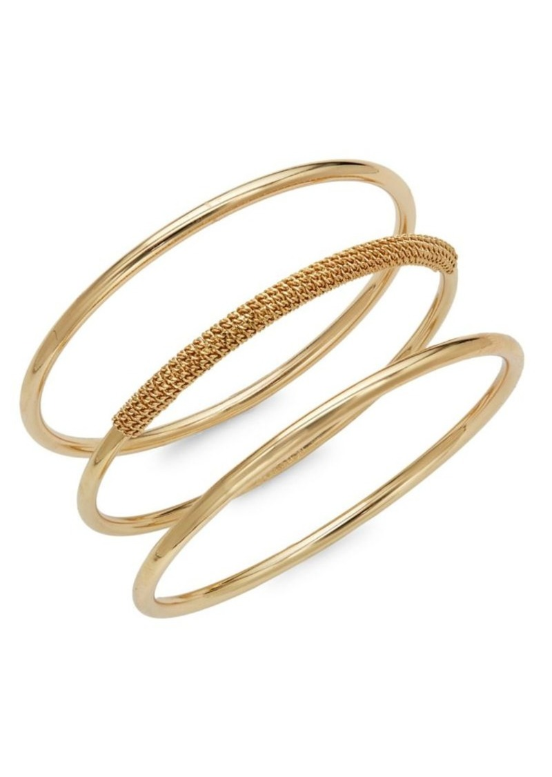 Bcbgeneration Set Of Three Chain Wrap Crystal Bangle Bracelets
